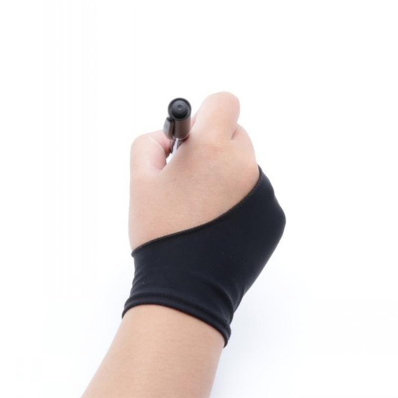 4Pcs Two Finger Gloves Professional Artist Gloves Sketching Gloves Nylon Gloves