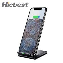 10W 빠른 Qi 무선 충전기 전화 스탠드 무선 충전 유도 충전기 아이폰 XR XS 맥스 X 8 플러스 삼성 갤럭시 S9 S8