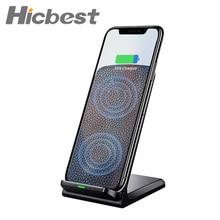 10W szybka bezprzewodowa ładowarka Qi stojak na telefon bezprzewodowa ładowarka indukcyjna do iPhone XR XS Max X 8 Plus Samsung Galaxy S9 S8