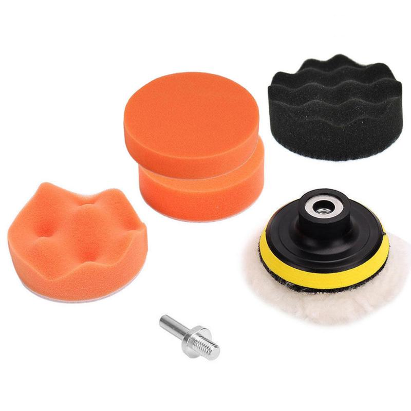 3 Inch Car Polish Tool Polisher Buffer Car Polishing Disc Car Waxing Sponge Scratch Remover Wool Wheel Car Paint Care Kit TSLM2|Polishing & Grinding Materials Set| |  - title=