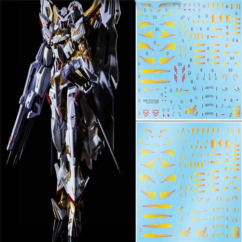 DIY pasty wodnej dekoracyjna naklejka dla Amatsu Hana RG MBF-P01-Re3 Model naklejka Gundam naklejki akcesoria