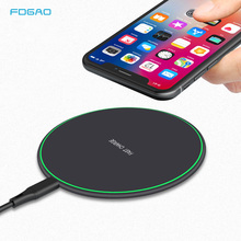 FDGAO Qi Wireless Charger 10W Quick Charge For iPhone 11 8 X XS Max XR Airpods 2 Samsung S10 S9 Plus Note 10 9 Fast Charging Pad