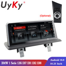 UYKY 10,25 Touchscreen Auto Stereo Player ForBMW1 Serie 120i/E87/E81/E82/E88 Multimedia GPS android 10 ccc CIC SYSTEM 2005-2012