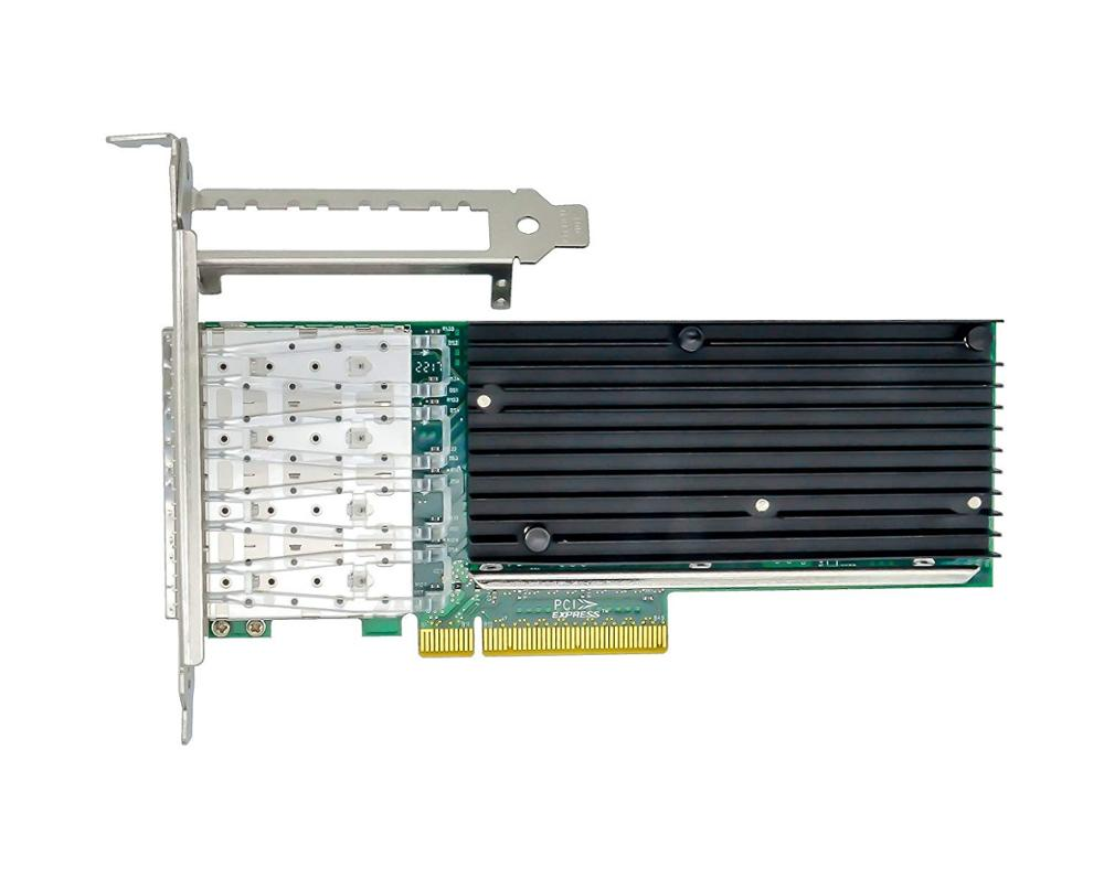 EB-LINK with Chipset X710-DA4 4Port SFP+ 10Gb Ethernet Converged Network Card Adapter ISCSI NFS DDJKY PCI-e3.0 x8 Controller NIC