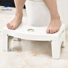Dobrável agachamento banqueta do banheiro do bebê cadeira crianças toalete treinamento potties assentos otomanos antiderrapante dobrável toalete passo