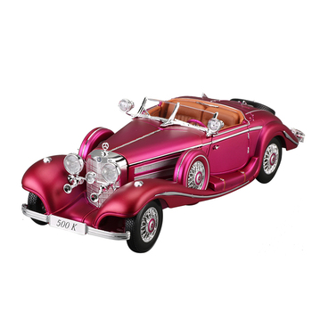 цена на Maisto 1:18 Mercedes-Benz 500K purple Classic Car Simulation Alloy Car Model Collection Decoration Gifts toy
