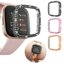 Hard-Plastic-Cover Watch-Case Protective-Frame-Shell Fitbit Diamond for Versa 2-Screen-Protector