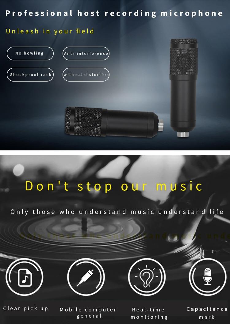 vídeo webcast entretenimento com suporte conjunto presente placa de som