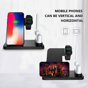 Image 2 - DCAE 4 in 1 kablosuz şarj Dock İstasyonu için Qi şarj standı Apple Watch iWatch için 5 4 3 2 1 airPods iPhone 11 XS XR X 8 Samsung