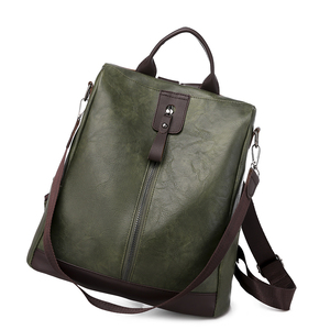 Image 5 - Toposhine盗難防止、女性のバックパックファッションシンプルな無地スクールバッグpuレザーの女性のバックパック女の子女性バッグ