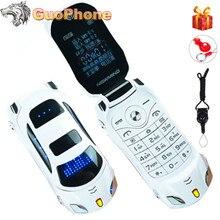 Newmind f15 flip telefone móvel com câmera dupla sim led luz 1.8 polegada tela de luxo telefone celular do carro (livre adicionar teclado russo)