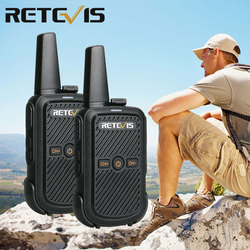 Retevis RT15 Rechargable Walkie Talkie 2pcs Mini Radio Station Portable Walkie-Talkie UHF USB Charging with Programming Cable