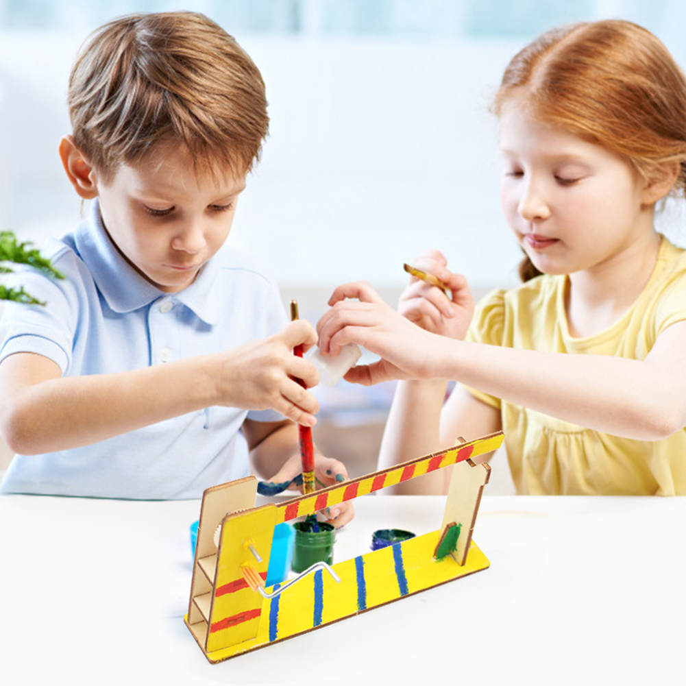Wooden Barrier Gateway Door Model Cultivate Hands-on And Thinking Skills Building Experiment Toy Assembled Material Kit