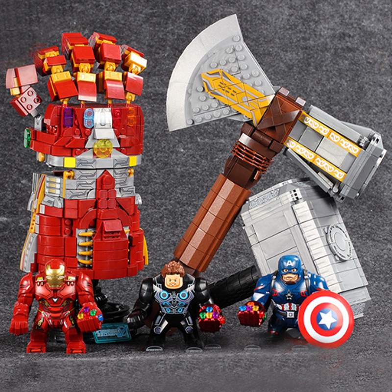Avengers 4 Legoinglys Model Super Heroes Underground Base Battle Hammer Storm Tomahawk Avengers  Building Block Toys