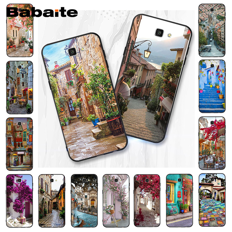 Babaite travel italy France London Flower World Places Phone Case For Samsung Galaxy J7 J6 J8 J4 J4Plus J7 DUO J7NEO J2 J7 Prime image
