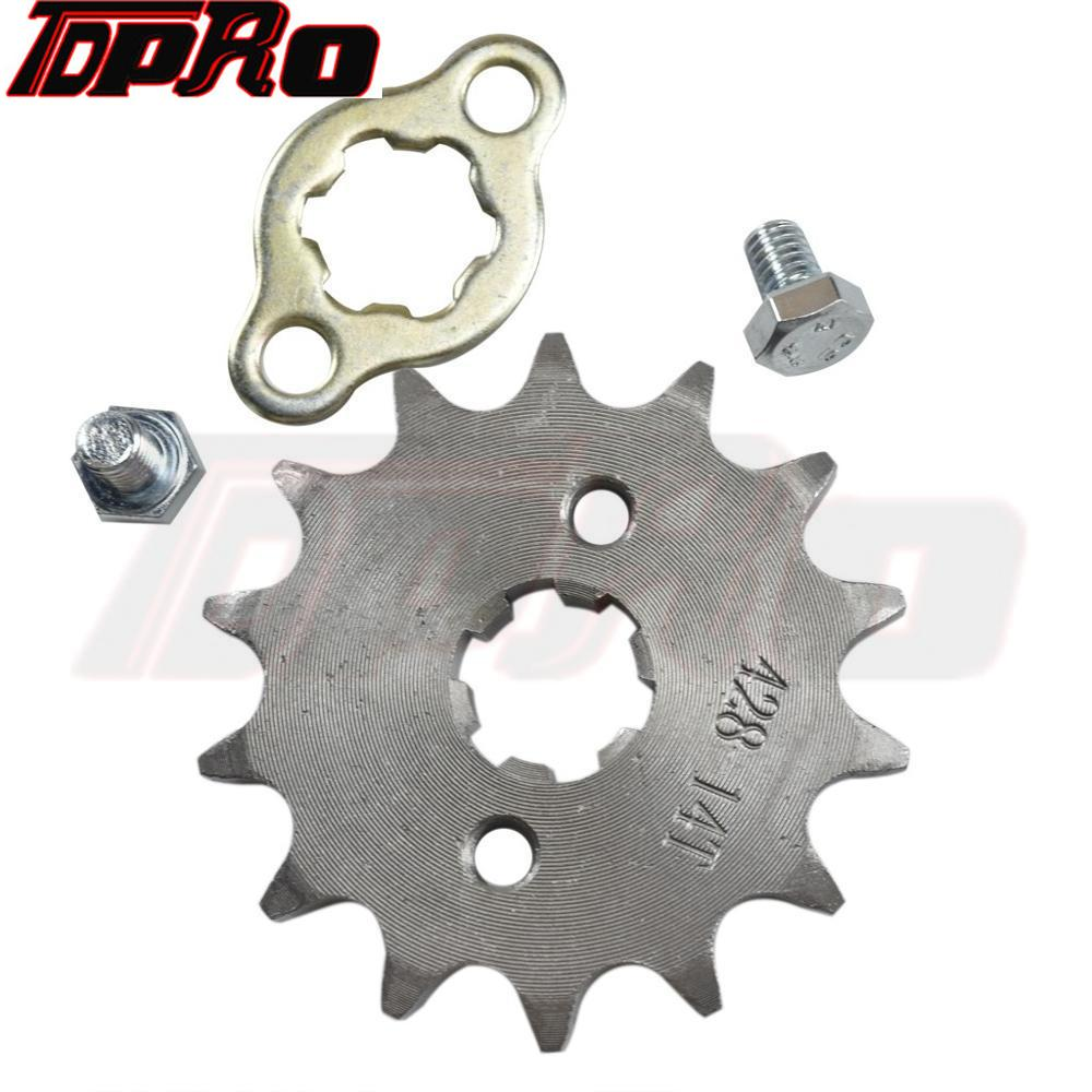 428 17MM Engine Sprocket 14T 15T 16T 17T for 50cc To <font><b>125cc</b></font> ATV Go Kart Quad <font><b>Pitbike</b></font> Buggy Dirt Bike with Locking Plate and Screw image
