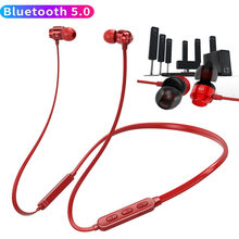 Bluetooth 5.0 Earphone 16Hrs Talking Time Wireless Neckband sports earbud IPX5 Waterproof with Mic Stereo Headset for Phones PC(China)