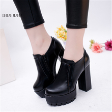 Ultra high heel womens single shoe low heeled shoes and bare boots water proof fashion 2020 autumn new style work shoes fashion