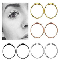 Nose Ring Stud Ear-Piercing Punk-Style Tragus Helix Surgical Steel Cartilage Fashion