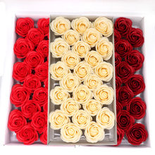25Pcs Big Size Soap Roses Flowers Head Real Touch Soap Roses Artificial Flowers High Quality For Diy Wedding Home Decoration