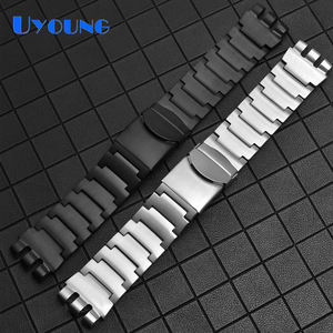 Solid refined steel Watch Band