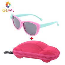 Kids Sunglasses Baby Polarized Square Lenses Sun Children's Glasses Girls Safe Boxes Boy Eyewear UV 400 Shades With Case Vintage