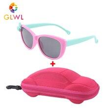 Kids Sunglasses Eyewear Lenses Safe-Boxes Square Baby Uv-400-Shades Vintage Girls Polarized