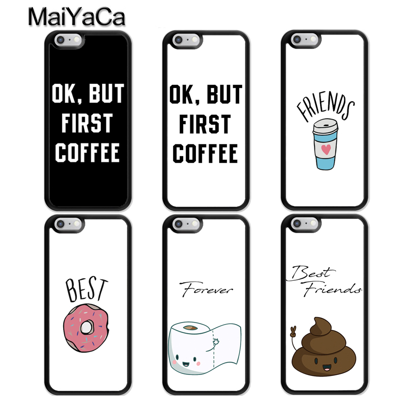 MaiYaCa Matching <font><b>BFF</b></font> Best Friends Forever <font><b>Case</b></font> For <font><b>iPhone</b></font> 11 Pro Max X XR XS MAX 6S 8 7 Plus 5S TPU Coque Back Cover image