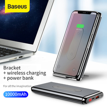 """Baseus 10000 mAh כוח בנק צ י אלחוטי מטען עבור iPhone סמסונג Huawei פ""""ד + QC3.0 מהיר טעינת Powerbank סוג  C יציאת"""