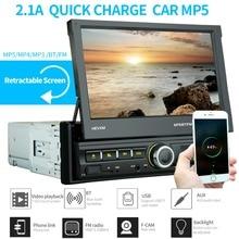 цена на 2 Din Car Radio Bluetooth Mirror link 2din  Multimedia Player Touch Screen Retractable MP5  USB Audio Stereo