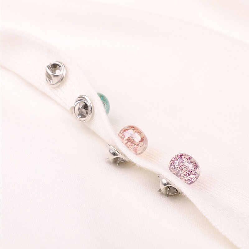 Elegan Bros Pin untuk Wanita Trendi Resin Sweater Kerah Jilbab Pin Bulat Gaya Wanita Bros Perhiasan Wanita Bros Perhiasan