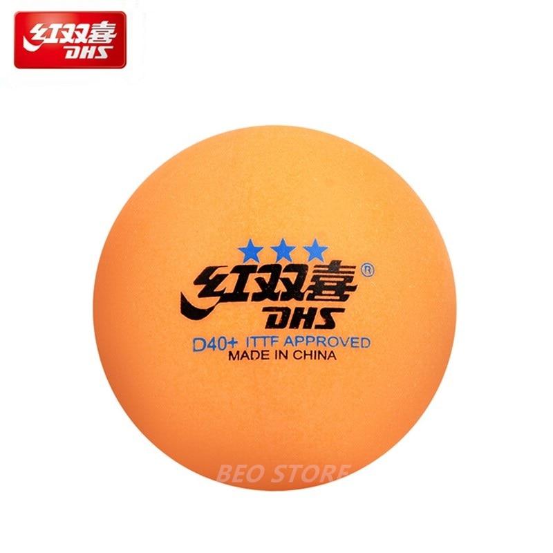 30/60 Balls DHS Table Tennis Ball Original 3 Star D40+ Seamed Orange ABS Plastic Ping Pong Balls Poly Tenis De Mesa
