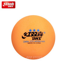 30/60 bolas de tênis mesa dhs original 3 estrela d40 + seamed laranja abs plástico ping pong bolas poli tenis mesa