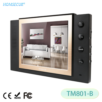 """HOMSECUR TM801-B Indoor Monitor 8"""" TFT LCD For HDW Wired Video Door Phone Intercom System"""