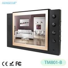 Monitor de interior HOMSECUR TM801-B de 8 pulgadas TFT LCD para sistema de intercomunicación de Video y puerta con cable HDW