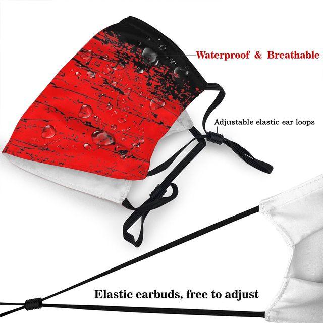 Маска для лица с флагом СССР, России, Коммунистическая социалистская противодымчатая Пылезащитная маска, респиратор для рта 4