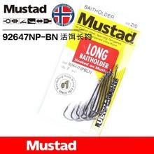 10 packs/lot Mustad hooks for Live bait casting fishing 92647-bn # long double backstab hooks high carbon steel hooks tackles