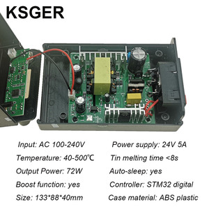 Image 3 - KSGER T12 STM32 Digital Soldering Station T12 Iron Tips Auto Sleep Boost Temperature Quick Heating 907 ABS Handle DIY Tools