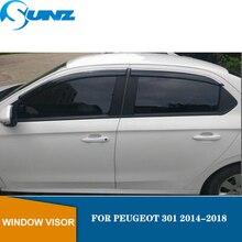 Window Visor for PEUGEOT 301 2014-2018 side window deflectors rain guards SUNZ