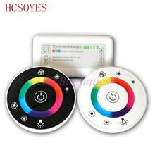 1 pcs LED Touch Round RGB Controller DC12V-DC24V 18A 7 Keys RF Remote controller