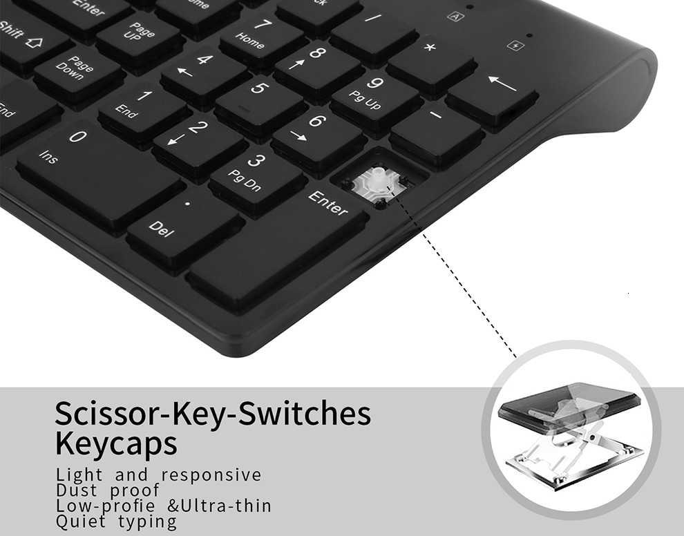 Seenda Low-Noise Draadloze Toetsenbord En Muis Combo Ultradunne Draadloze Toetsenbord Muis Voor Laptop Notebook Computer Smart tv