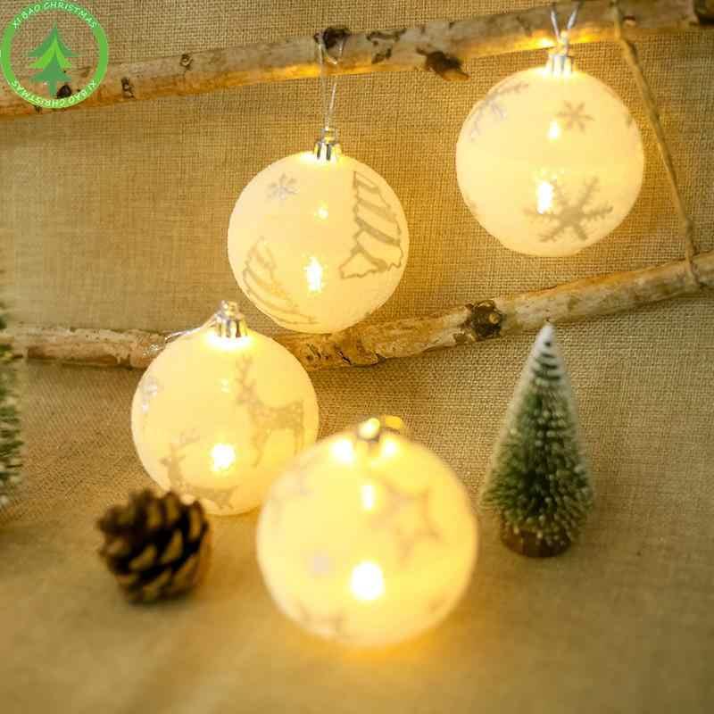 DishyKooker aydınlık kolye ile noel top ışık Xams ağacı dekorasyon