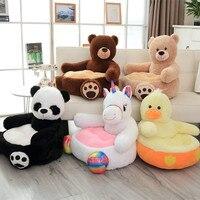 Cartoon Lovely Teddy Bear Panda Unicorn Duck Kids Sofa Chair Plush Toys Seat Baby Nest Sleeping Bed Adult Pillow Stuffed Cushion