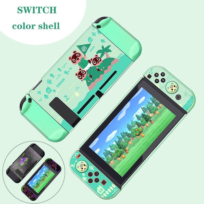 Schutzhülle Für Nintendo Schalter Animal Crossing Harte Fall Abdeckung Shell JoyCon Controller Fall Für Nintendo Schalter Zubehör