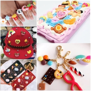 8pcs Cute Resin Candy Charms For Slime Filler DIY Cake Ornament Phone Decoration Resin Charms Lizun Slime Supplies Toys 1