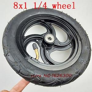 """Image 2 - Neumático de aleación de aluminio para patinete, tamaño 8x1, 1/4, 32mm de ancho, rueda inflada de 8"""""""