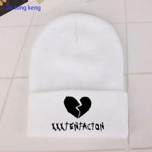 2021Hip Hop singer xxxtentacion Knitted winter hat Cotton men women Lil Peep Beanie bonnets