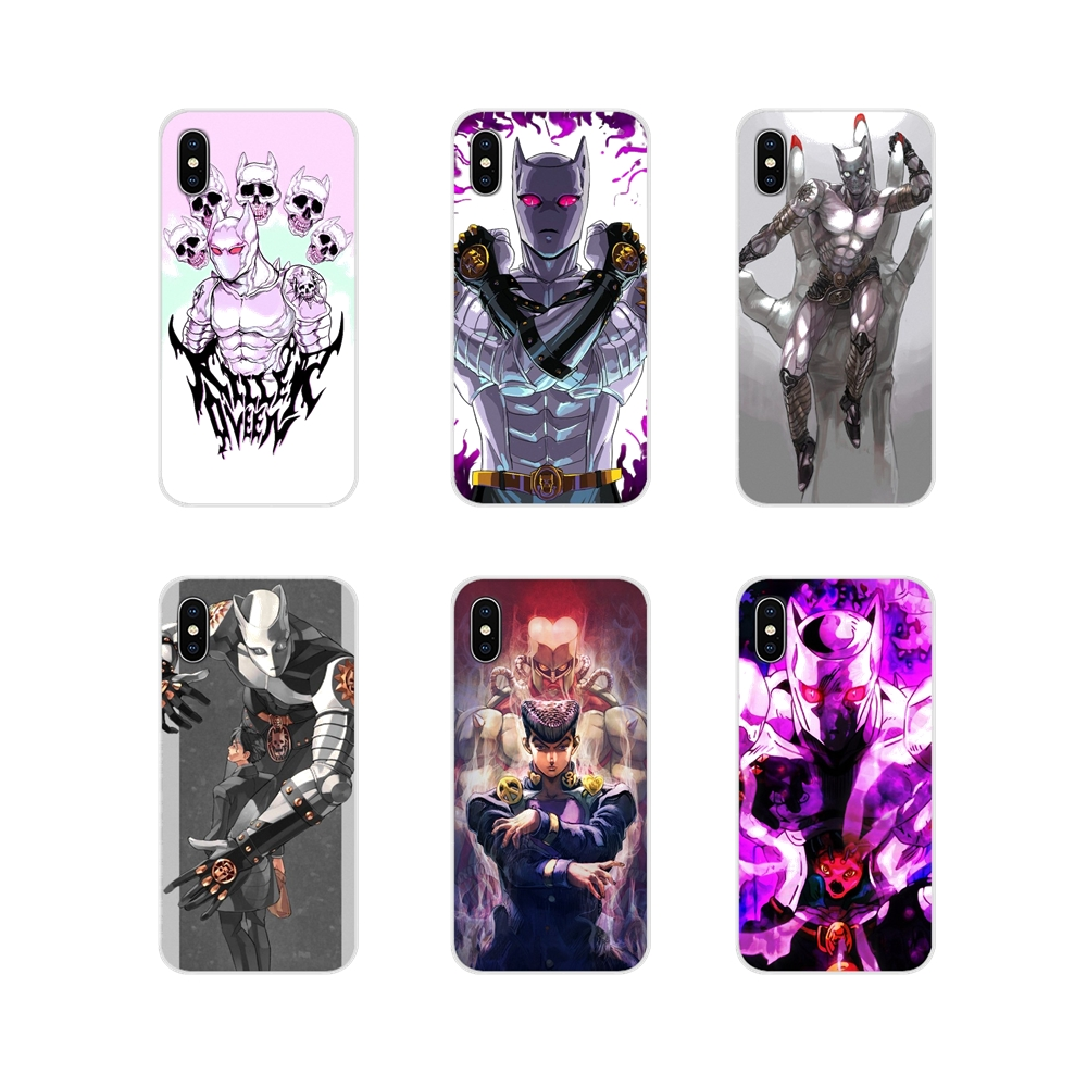 Transparent TPU Shell Cover For Oneplus 3 5 6 7 T Pro <font><b>Nokia</b></font> 2 3 5 6 8 9 <font><b>230</b></font> 2.1 3.1 5.1 7 Plus 2017 2018 Anime JoJo Killer Queen image