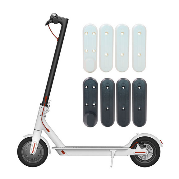 4pcs Scooter for Xiaomi M365 Protective Cover with a Word U-Shaped Adhesive Four Front and Rear Wheel Protection Plastic Block