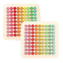 Table de multiplication de mathématiques 9x 9, jouets en bois pour enfants, nouveauté Montessori, matériaux d'apprentissage numérique, éducation précoce,